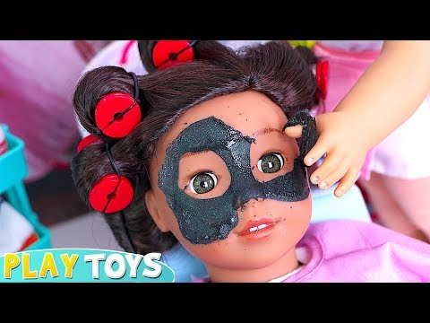 How To Make Black Glitter Spa Mask For American Girl Doll With School Glue! 🎀