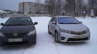 Тест Обзор Тойоты Королла 2014 года в сравнении с ресталинговой Тойотой