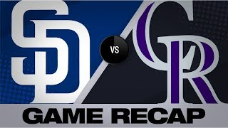 McMahon, Fuentes rake in 10-5 win | Padres-Rockies Game Highlights 9/15/19