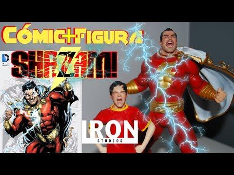 Cómic + Figura - Shazam! - Geoff Johns y Gary Frank - Iron Studios