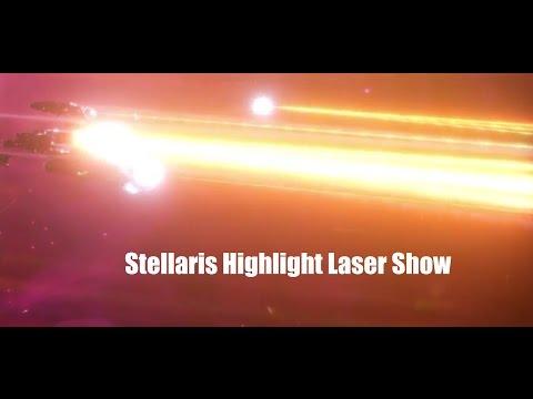 Stellaris ZBeautiful Battles - Battleship Fleet LASER Show - Amazing Ultra Graphics |