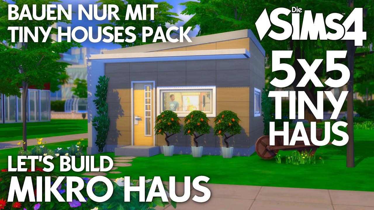Die Sims 11 11x11 Mikro Haus bauen & einrichten  Nur mit TINY HOUSES  Pack-Objekten