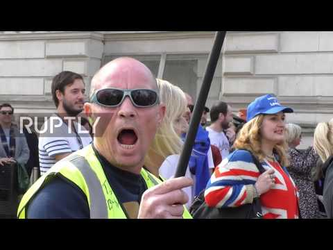UK: Yellow Vest-inspired 'Brexit-betrayal' march hits London