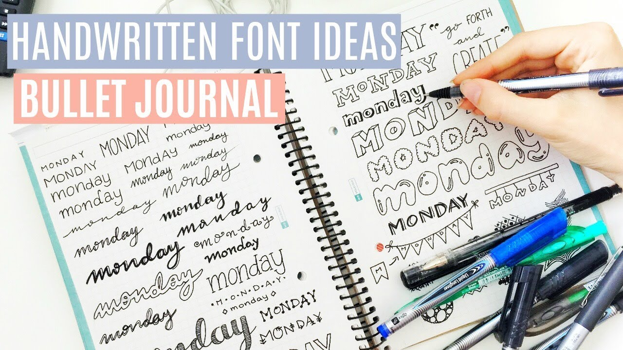40 Hand Lettering Ideas Bullet Journal Fonts Youtube