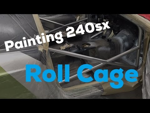 Painting S14 Drift car Cage!