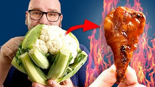 Making Realistic HOT WINGS by UPGRADING CAULIFLOWER WINGS!
