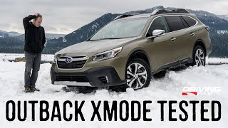 2020 Subaru Outback XMode Offroad and Snow Test