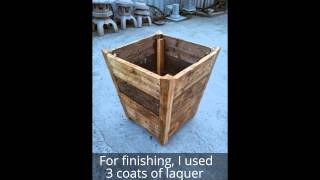 Wood Planter From Pallet Wood