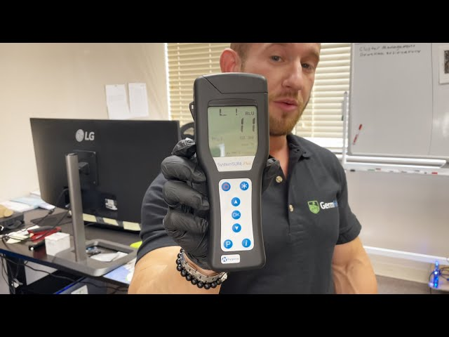 Germ Hero HOCL 500 Disinfectant Spray - ATP Test Demo (Unedited Video)