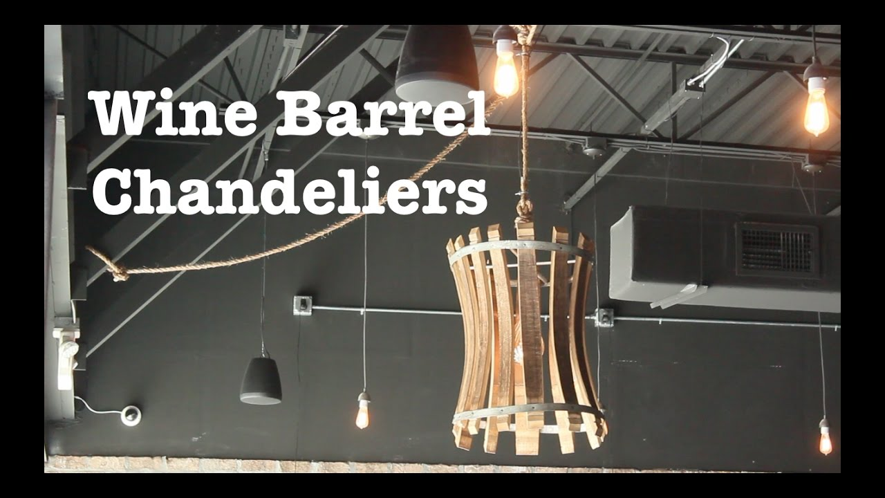 Wine barrel chandeliers for escape brewing how to youtube arubaitofo Images
