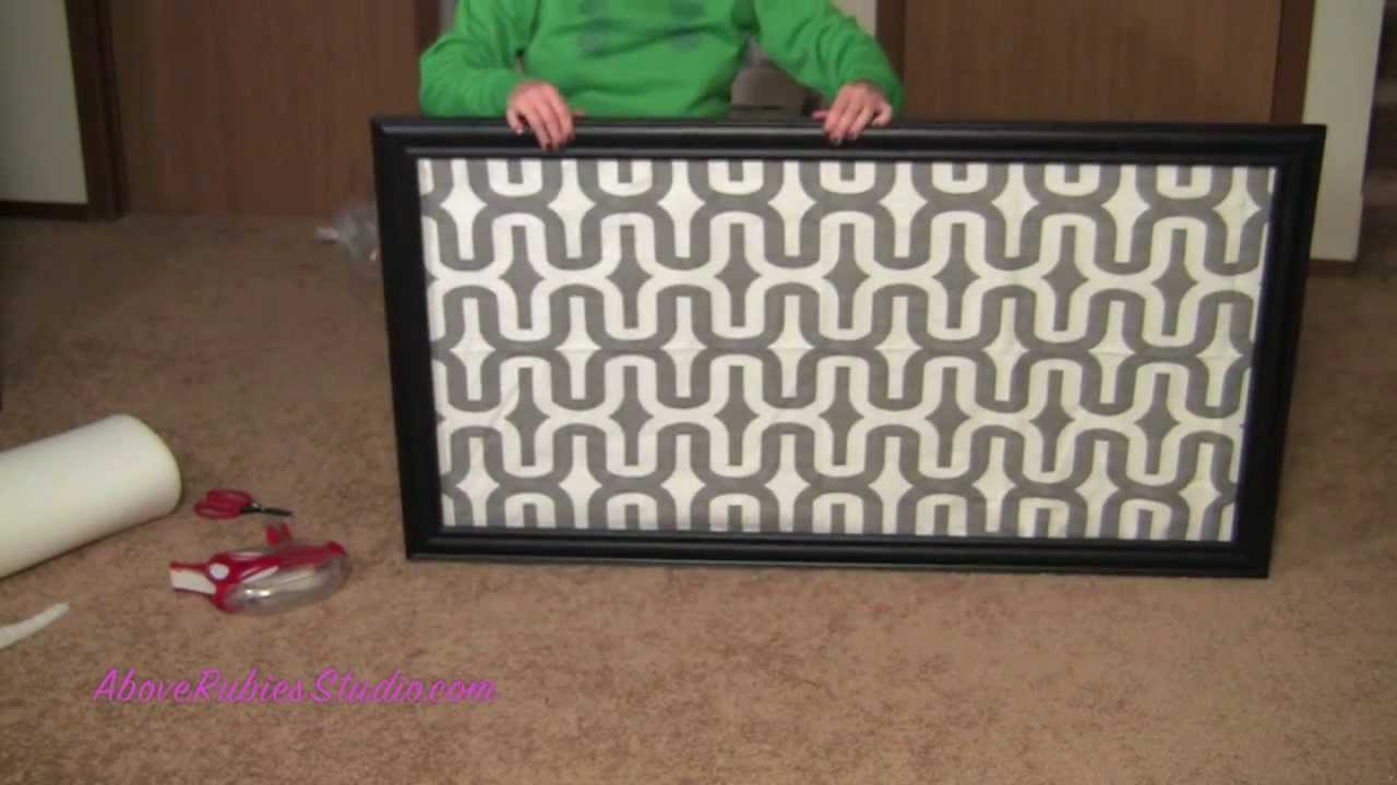 DIY No Sew Head Board Glue Glider Max   YouTube