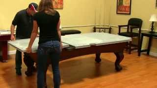 Westport 8' Antique Walnut Slate Pool Table
