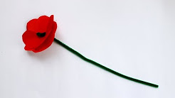 How to make an Anzac Day memorial poppy