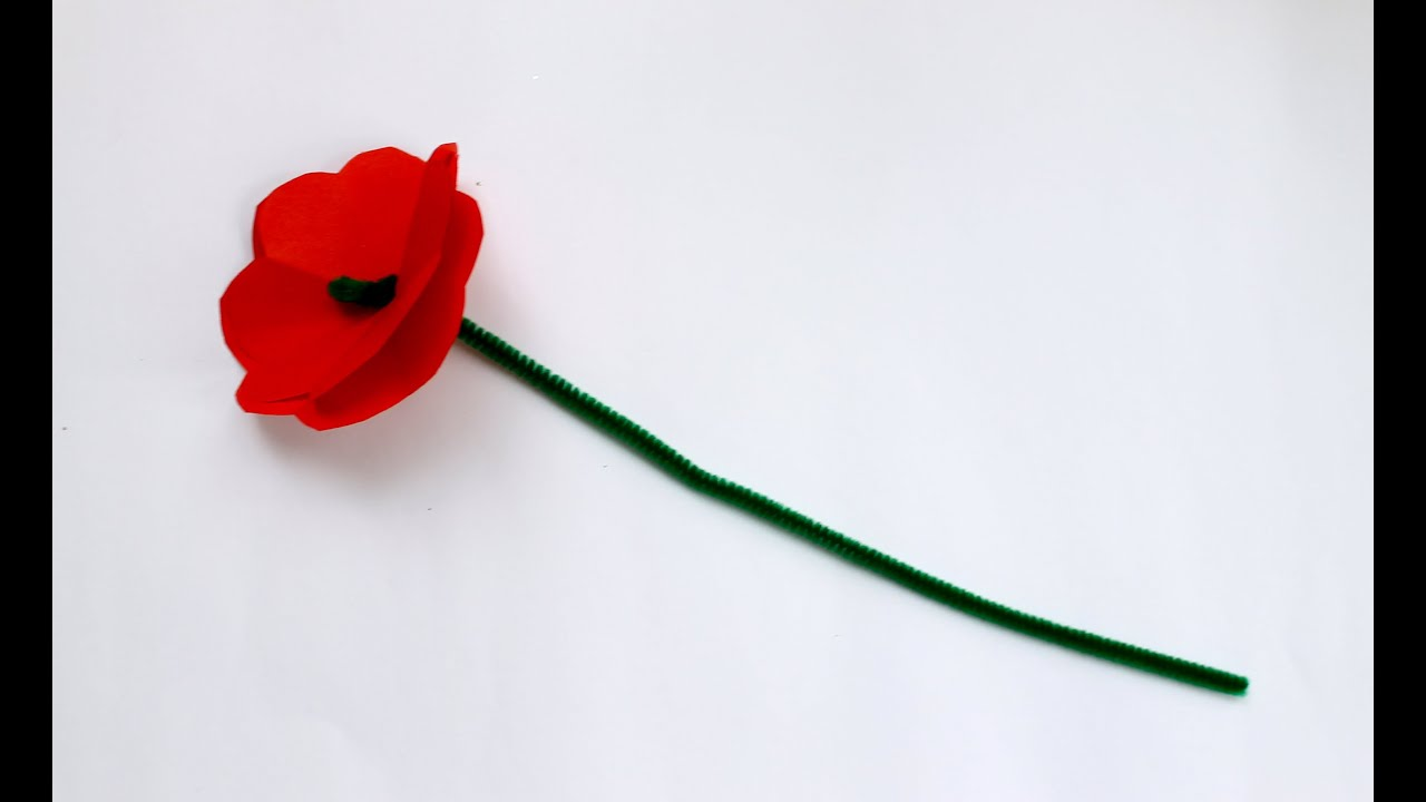 how to make an anzac day memorial poppy youtube