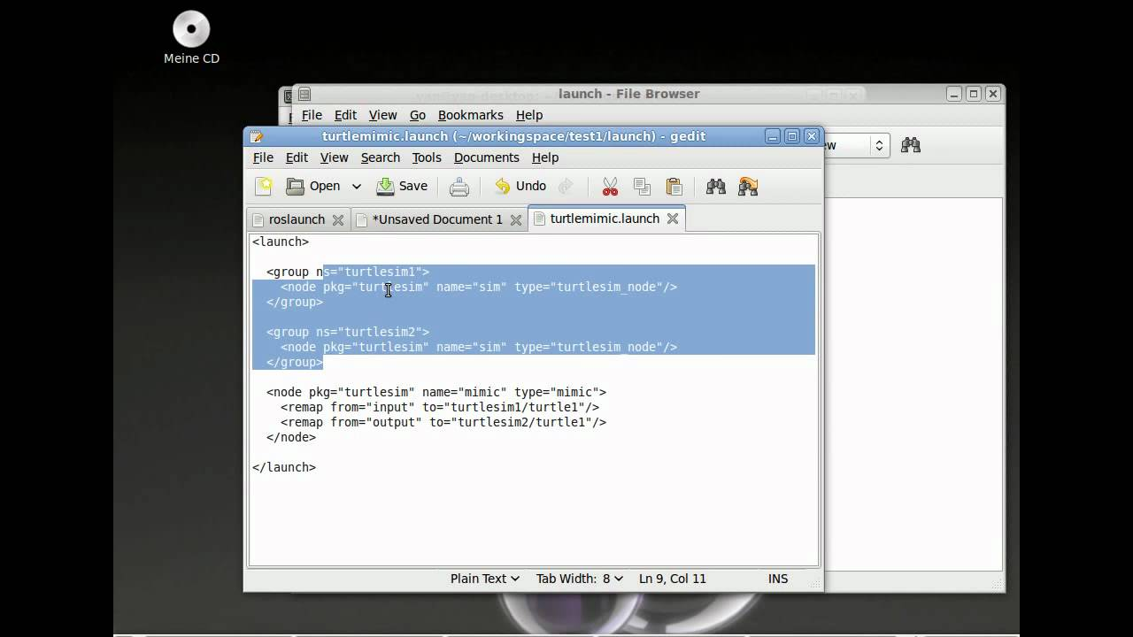 How to write a launch file in ROS ENG