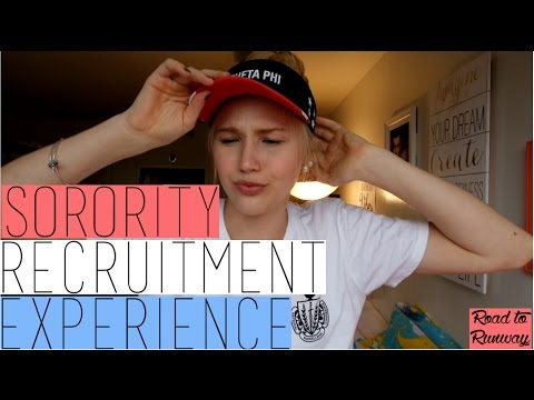 MY SORORITY RECRUITMENT EXPERIENCE!!!