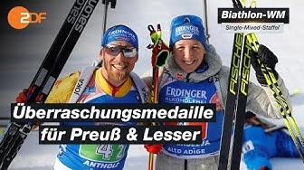 Biathlon-WM: Preuß und Lesser holen Silber in der Single-Mixed-Staffel | SPORTextra - ZDF