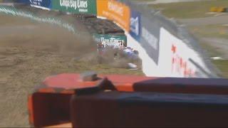 Verizon IndyCar Series 2017. FP2 Firestone Grand Prix of St. Petersburg. Takuma Sato Crash