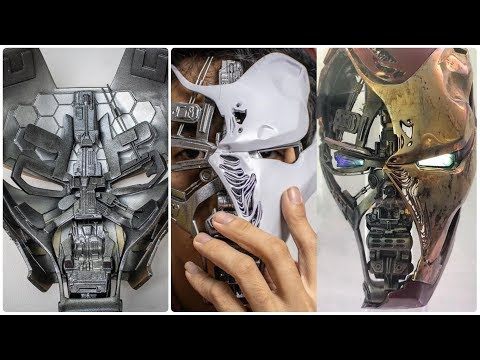 DIY Real Iron Man Battle Damage Helmet from Avengers Endgame by Poot Prop