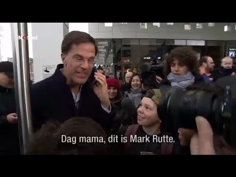 """Dag mama, dit is Mark Rutte"""