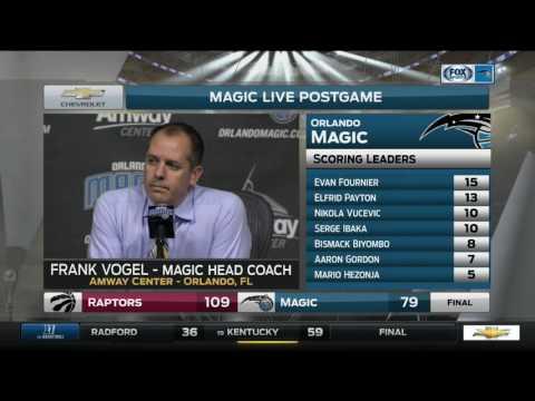 Frank Vogel – Toronto Raptors at Orlando Magic 12/18/2016