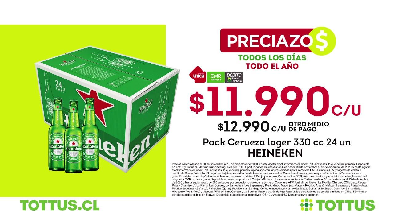 Preciazos de Tottus   Pack cerveza lager y pack detergente