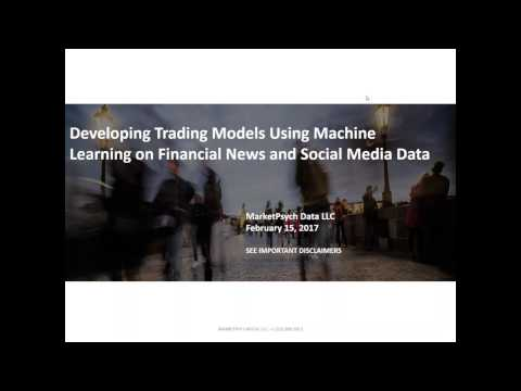 Developing Trading Models Using Machine Learning on Financial News and Social Media Data
