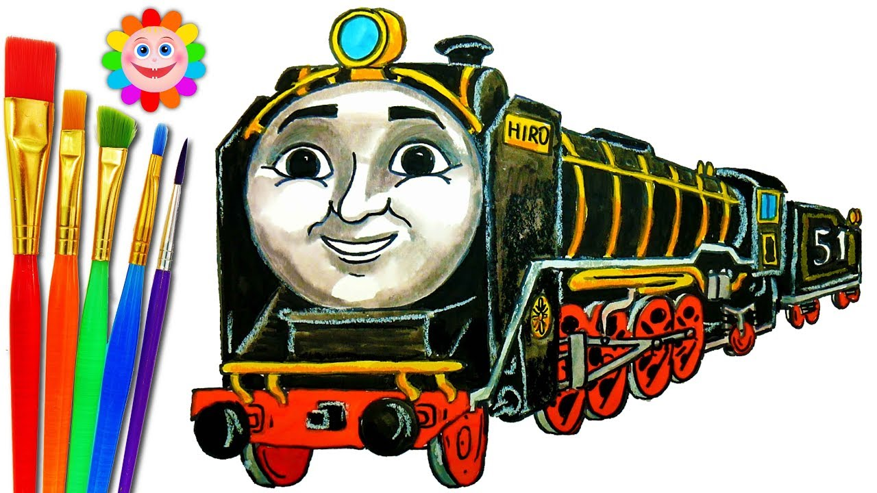 how to draw train thomas and friends coloring pages hiro train