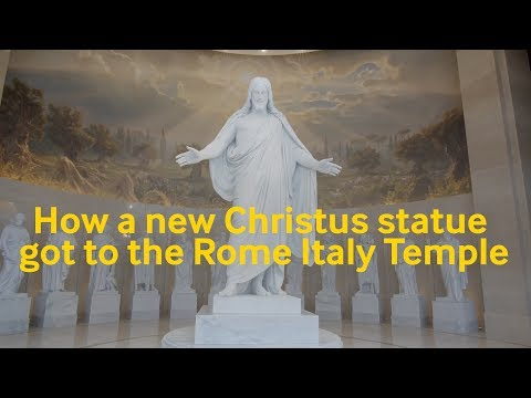 How a new Christus statue got to the Rome Italy Temple