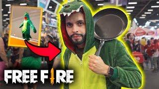 EU VIREI O DINO DO FREE FIRE NESSE EVENTO!!! CCXP 2018