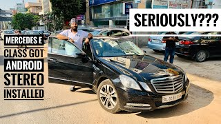Modified Mercedes E Class With Android Stereo   Android Stereo For Mercedes E Class   Musafir Aka Video
