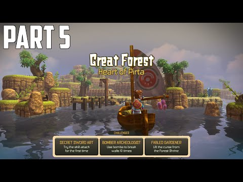 Oceanhorn: Monster of Uncharted Seas - 100% Walkthrough Part 5 [PS4] –  Great Forest