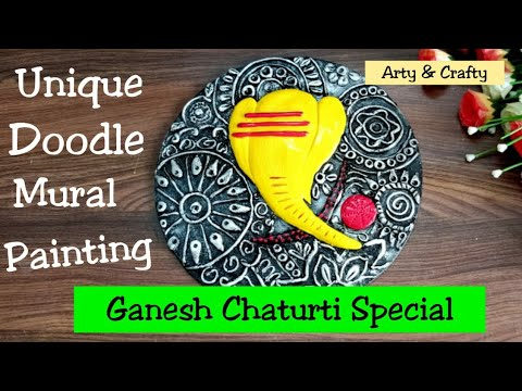 Mural 3D Painting//Home Decor //Ganesh Wall Mural Painting //Doodle Painting //Best Out of Waste