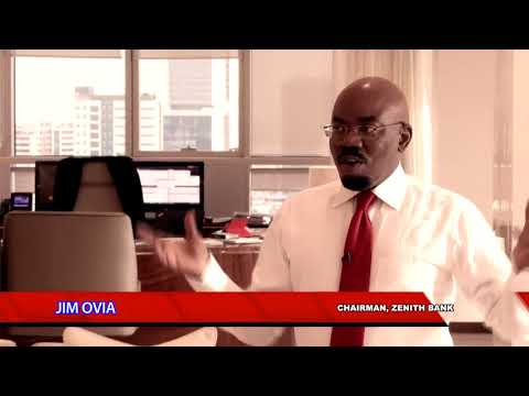 """Founder/Chairman of Zenith Bank Plc, Mr. Jim Ovia speaking on """"His Lagos Story""""."""