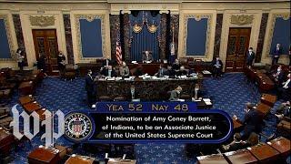 Senate votes to confirm Amy Coney Barrett to the Supreme Court
