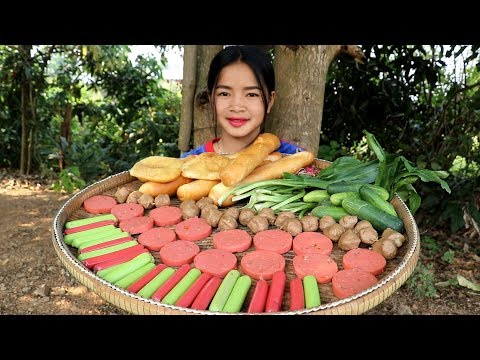 Awesome Cooking: Fried Meatball W/ Bread Delicious Recipes – Cook Bread – Village Food Factory