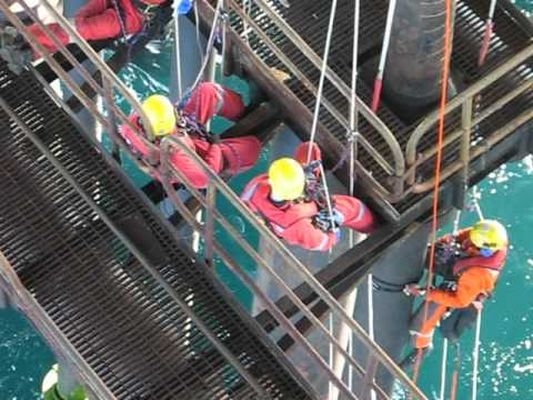 Industrial Rope Access Inspection job on North Alwyn platform North Sea
