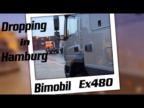 Dropping Bimobil ex 480 in Hamburg harbour shipping to canada