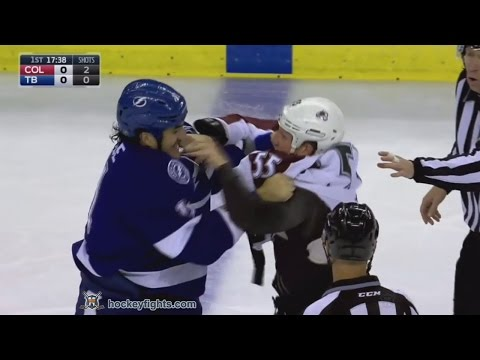 Cody McLeod vs Brian Boyle Oct 20, 2016