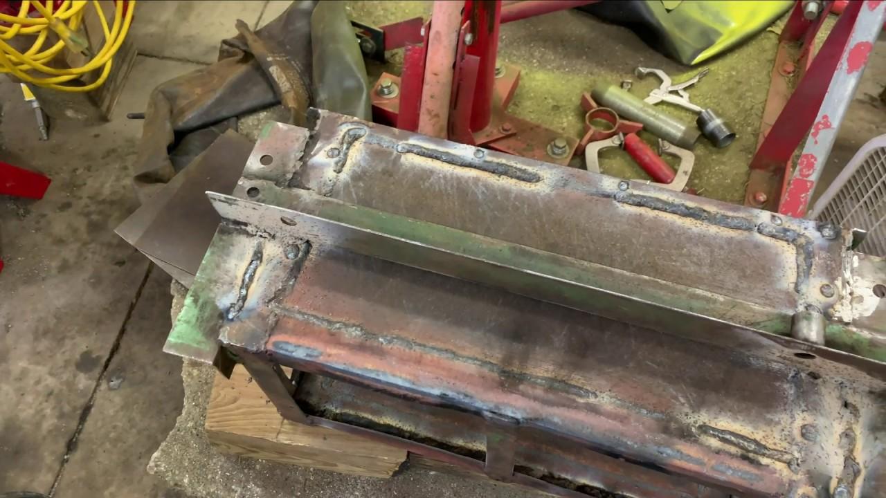 Welding New Side Panels on the John Deere 2510 Battery Box Part 1