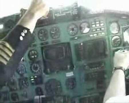 TU-154 landing.