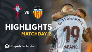 Highlights RC Celta vs Valencia CF (1-0)