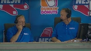 Jerry Remy loses a tooth on air