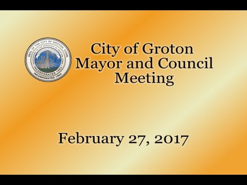 City of Groton Mayor & Council - 2/27/17
