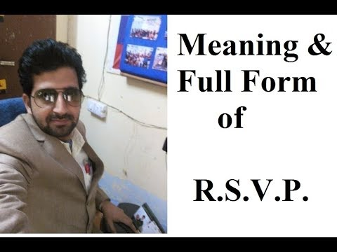 Meaning Of R. S. V. P.