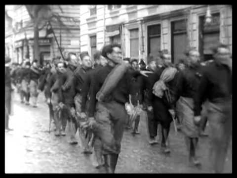 Mussolini and his Black Shirts on the rise in Italy 1922 - YouTube