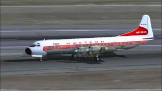 Western Airlines Lockeed L-188 Electra (FS2004)