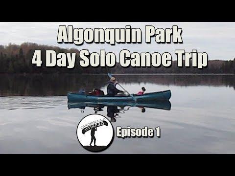 4 Day Solo Canoe Trip In Algonquin Park /Smoke Lake To Bonnechere Lake...Episode 1