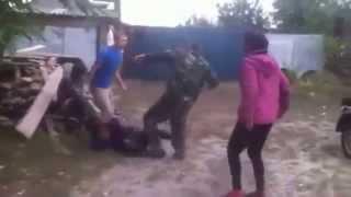 Classic Russian drunk women fight