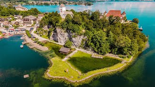 Traunsee, Attersee,  Mondsee - Above Austria